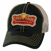 Cummins Diesel Engines Oil Frayed Vintage Retro Trucker Black Mesh Cap Hat 1915