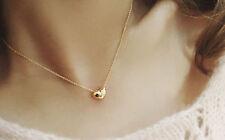 Dazzling Fad Cute Heart Womens Bib Statement Chain Jewelry Pendant Necklace、New