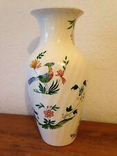 superbe vase decor oiseaux et fleurs   GIEN