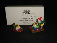 "Dept 56 Heritage Village ~ ""Testing the Toys"" ~ 56057 ~ 2 Pc. Set ~ Retired"