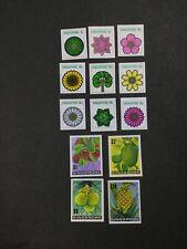 MOMEN: SINGAPORE 1973 FLOWERS PLANTS IMPERF MINT OG NH LOT #3914