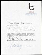 Pete Rose signed AUTOGRAPHED 1973 Topps baseball card contract Reds Phillies HOF