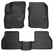 Husky Liners WeatherBeater Floor Mats - 3pc- 99771- Ford Focus 2016-2018 - Black