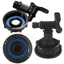 """1000L IBC To (15mm) 1/2"""" Water Tank Garden Hose Valve Adapter Fittings + Switch"""