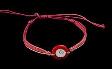 Bracelet bresilien Oeil de Sainte Lucie  resine cuir- Shiva - fil rouge- BB 1005