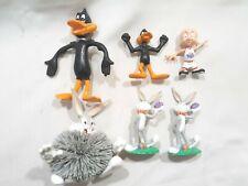 "Vintage Bugs Bunny Daffy Elmer Fudd Space Jam Figures Lot of 6 Size 2""-5"" !"