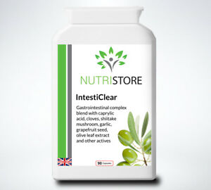 IntestiClear Herbal Intestinal Parasite Cleanse Supplement with Caprylic Acid