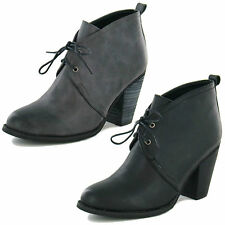 Spot on Ankle Lace Up Synthetic Women's Boots