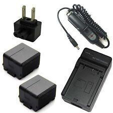 Charger + 2x Battery Pack for Panasonic HDC-TM300 HDC-TM350 HDC-TM700 HDC-TMT750