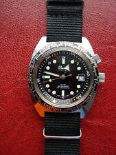 Vintage Dimetron World Timer Diver Style Men's Watch Swiss Made