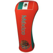 Mexican Flag Fairway Golf Club Head Cover Cover Easy On & Off Usa Made