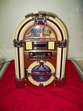 More details for jukebox with cd player radio lights up fully working 15.5 t x 10.5 w used mains
