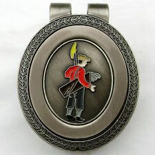 Golfer Money Clip With Enamel Caddy Medallion by Thru The Green