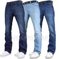 Smith & Jones Mens Wide Leg Flare Bootcut Jeans King Big All Waist Sizes