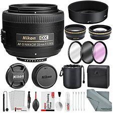 Nikon AF-S DX NIKKOR 35mm f/1.8G Lens, Deluxe Accessory Bundle W/ 58mm Wide-a...