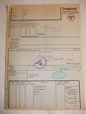 h1 Frachtbrief Deutsche Reichsbahn Erfurt Ahlen Köhler Holzhandlung 2. Wk 1944