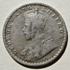 INDIA 1925 KING GEORGE V SILVER 1/4 RUPEE COIN (KM# 518)
