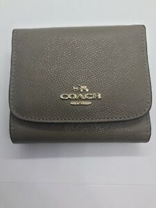 USED Coach Small Trifold Snap Wallet Womens