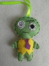 Handmade Halloween decoration ,zombie boy ornament  hanging felt decoration