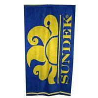 Sundek - Telo da mare - Articolo NEW CLASSIC LOGO - 3090 - Colore Sapphire