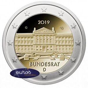 2 euros commémorative ALLEMAGNE 2019 - 70ème anniversaire du Bundesrat allemand