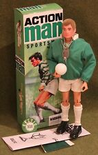 vintage action man 40th anniversary rare celtic footballer boxed