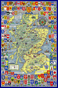 Historical Map of Scotland 1000 Piece Jigsaw Puzzle (jg)