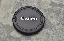 Genuine Canon EOS E 52mm Snap-On Front Lens Cap Chrome Logo 50mm 1.8 (#1446)