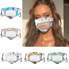 Reusable Face Mask with Clear Mouth Window for Deaf and Hard of Hearing Person