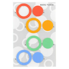 "Hobonichi Dot Sticky Notes ""Maru Fusen"" Colorful Round Post it for Planner JAPAN"