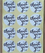 48x Thank You White Sticker/label/ Cookies Bag Sealer/ Party Gift Decoration