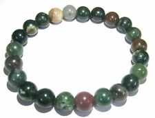 Bloodstone 7 mm beaded round bracelet crystal jewelry fashion gift energy health