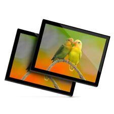 2 x Glass Placemats 20x25 cm - Pair of Lovebirds Love Bird Parrot  #21998
