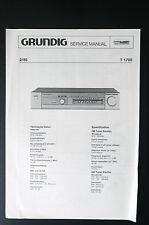 Grundig T 1700 ORIGINALE MANUALE DI SERVIZIO/Manuale Servizio/SCHEMA ELETTRICO