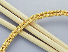 Karen hill tribe Silver 24k Gold  Vermeil Style  220  Little Stick Beads.