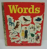 Vintage 1948 Words A Little Golden Book - Excellent!