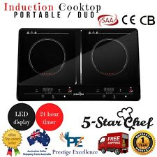 Double indication Cooktops Portable stove plate Electric - Black