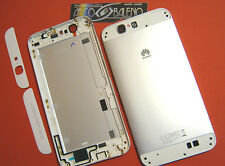 COVER Per HUAWEI ASCEND G7 SCOCCA BATTERIA POSTERIORE BACK HOUSING SILVER FRAME