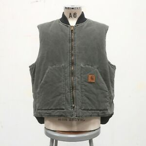Vintage Carhartt Canvas Work Vest Size 2XL Made in USA Wip Green