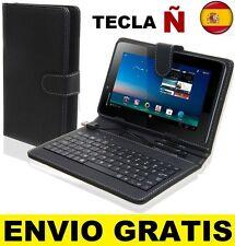 """Funda con teclado tablet 7"""" Universal Teclado español tecla ñ + Lápiz STYLUS"""