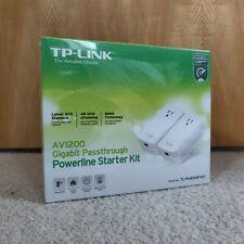TP-LINK Av1200 Gigabit Passthrough Powerline Starter Kit
