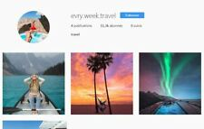 Account instagram 10K NITCH Travel REAL AND ACTIVE