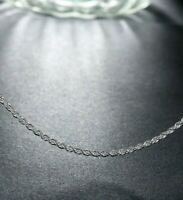 2MM Silver Italian DIAMOND CUT ROPE CHAIN Necklace Italy 18K White Gold Plated