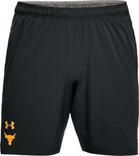 Under Armour Men's Project Rock Cage Shorts Black Size Small NWT Free Shipping
