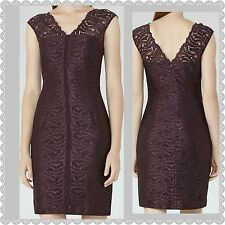 NWT $425 REISS OTTO LACE BODYCON DRESS size UK 10 US 6 GARNET