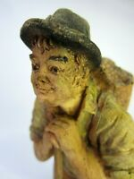 Vtg. SIC Hand Painted Resin Figurine 6¾ in. Tall Made in French Excellent Cond.!