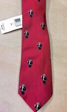 NEW Polo Ralph Lauren Mens Silk Tie Red Black Tuxedo  Polo Bear Hand made Italy