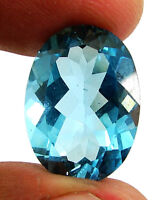 14.50 Ct Certified Natural Blue Topaz Loose Gemstone Oval Cut Fine Stone- 133797