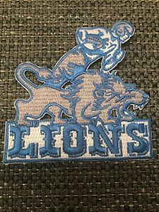 """Detroit Lions Vintage Rare Embroidered Iron On Patch 3.5"""" X 3.5"""""""