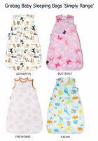 Grobag 'Simply Range' Baby Sleeping Bag 2.5 Tog (6-18 or 18-36m) *Various Design